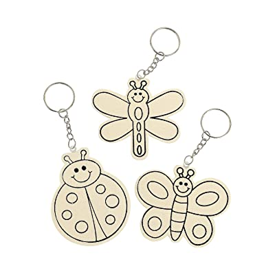 Color Your Own Wood Bug Keychains - Crafts for Kids and Fun Home Activities: Toys & Games
