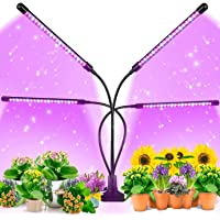 Grow Light for Indoor Plants - Upgraded Version 80 LED Lamps Red Blue Spectrum, 3/9/12H Timer, 3 Lighting Modes, 9…
