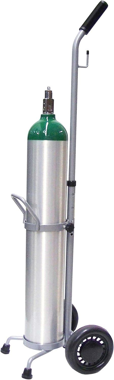 Single Cylinder D/E Oxygen Cylinder Cart