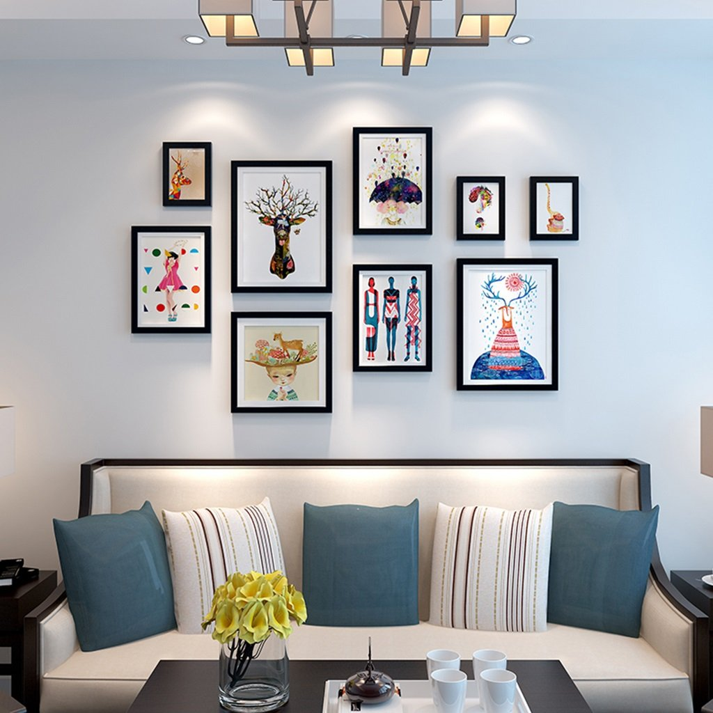 European - Style Photo Wall Frame Creative Living Room Picture Wall Combination Modern Minimalist Decoration