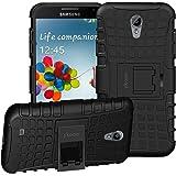 Galaxy S4 Hülle,ykooe (TPU Series) Samsung S4 Dual Layer Hybrid Handyhülle Drop Resistance Handys Schutz Hülle für Samsung Galaxy S4 (NICHT mit S4 Mini zu verwenden) Schwarz