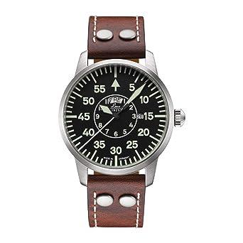 Laco 861806 - Reloj de pulsera hombre, piel, color marrón ...