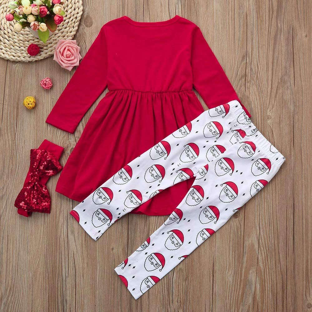 3PCS Christmas Outfits for Toddler Girls