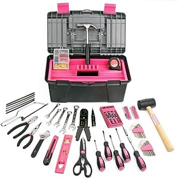 Apollo Kit de 170 piezas rosa completo de herramientas del hogar ...