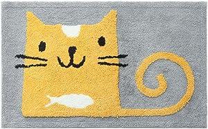 ZebraSmile Cartoon Cat 19.5 X 31.5IN Home Entrance Doorway Mat Door Mat Entry Doormat Entryway Door Mat Entryway Front Door Carpet for Bedroom Indoor OutDoorway Mat Non Slip Back