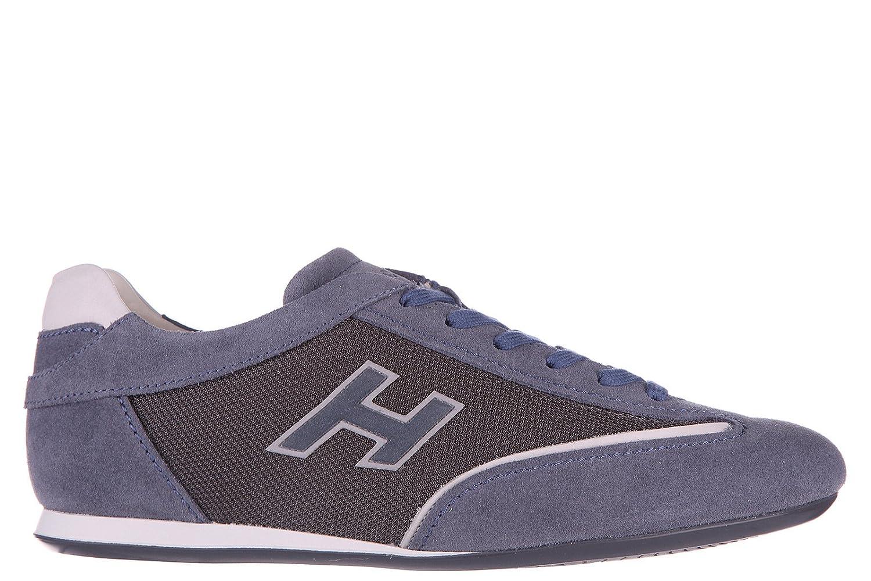Chaussures baskets sneakers homme en daimolympia slash h flock Hogan QclNK