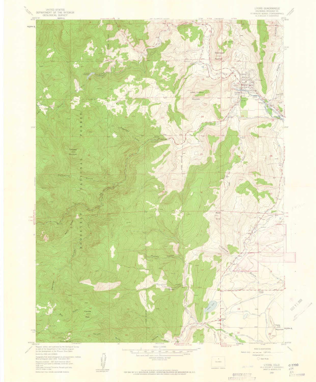 Amazon.com : YellowMaps Lyons CO topo map, 1:24000 Scale ... on