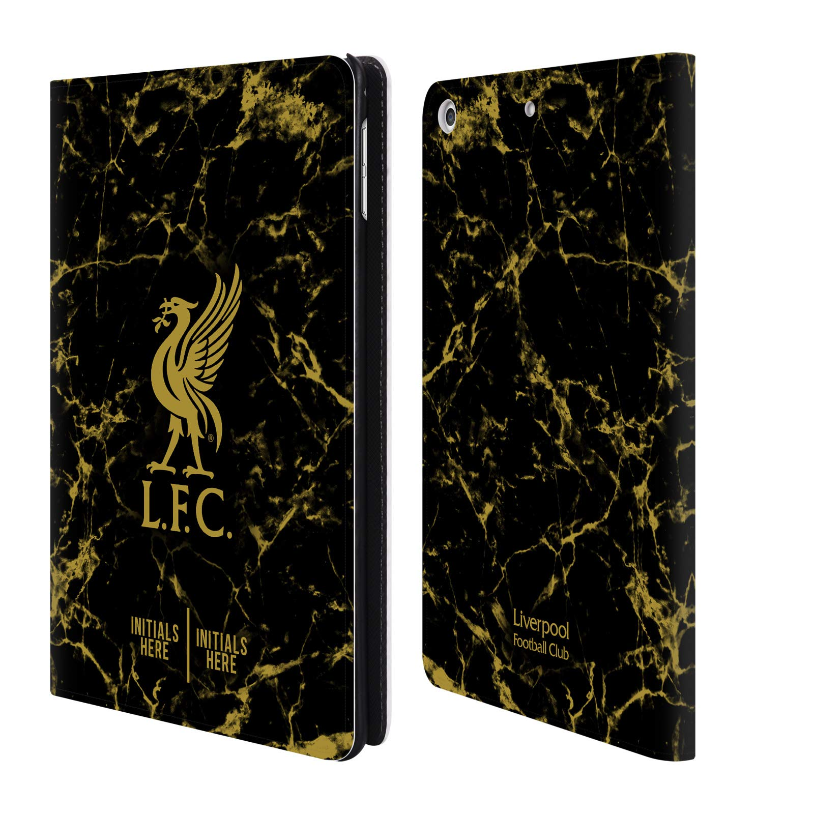 Custom Customized Personalized Liverpool Football Club Black Marble 2018/19 PU Leather Book Wallet Case Cover for iPad Mini 4