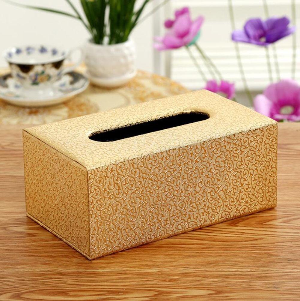 Creative Leather Facial Tissue Box Home Office Car Decor , E , 20128.5cm