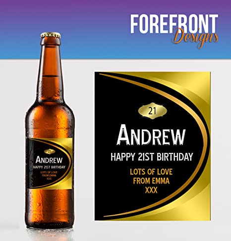 Party Favour//Wedding Favour//Birthday Gift//Anniversary//Fathers Day//Christmas Gift Any Wording for Any Occasion or Event Personalised Beer//Lager Bottle Label Perfect Gift idea Custom Pack of 4