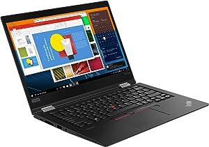 "Lenovo ThinkPad X13 Yoga Gen 1 13.3"" Touchscreen 2 in 1 Notebook, Intel Core i7-10510U, 8GB RAM, 256GB SSD, Windows 10 Pro (20SX001XUS)"