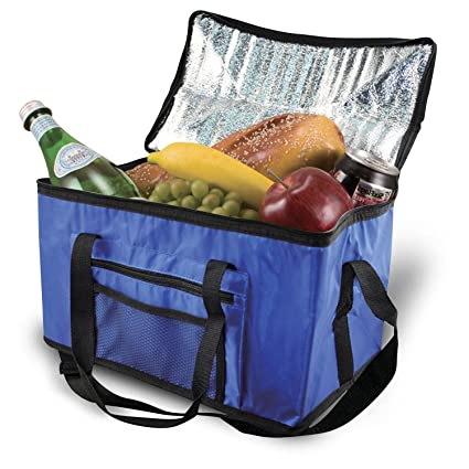 9bdcf08c0f23 Parkland Extra Large 26L Cooler Cool Bag Box Picnic Camping Food Drink  Lunch Festival Ice, fabric, Blue, 26 Litre