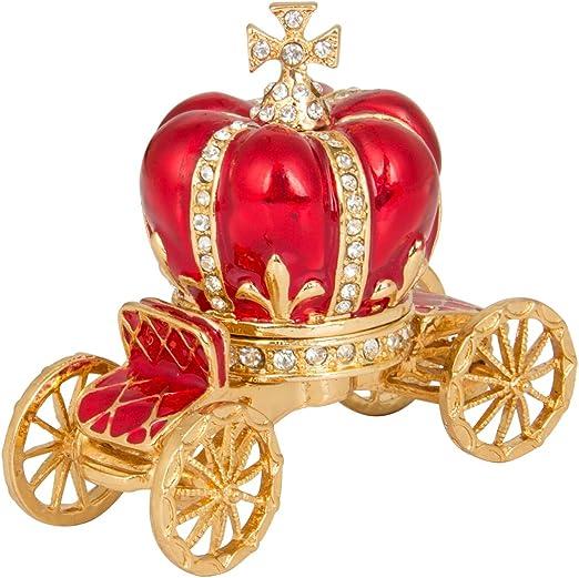Red Car Ceramic Hinged Trinket Box Jewelry Box