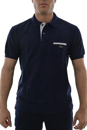 Lacoste para Hombre Azul Marino Bolsillo Polo: Amazon.es: Ropa y ...