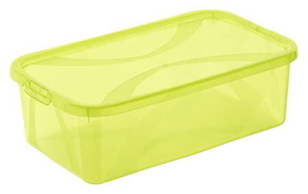 Rotho Storage Boxes Set, Arco With Lid, Capacity Per Box, Lime Grün,