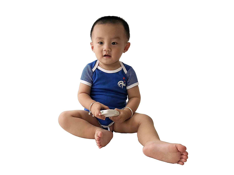 9c105b59a5e Amazon.com: Postobon France Soccer Jersey Baby Bodysuit Onesies Romper  Blue: Clothing