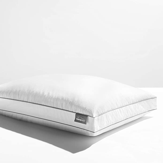 TEMPUR-Home Down Bed Pillow with Removable Cotton Cover, King Size