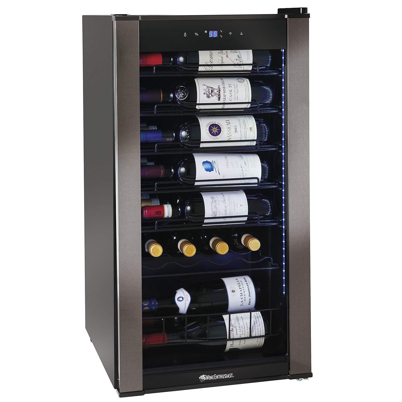 Wine Enthusiast VinoView 28-Bottle Compressor-Based Wine Refrigerator - Display your wine labels forward to showcase your favorite bottles