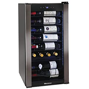 Wine Enthusiast VinoView 28-Bottle Compressor-Based Wine Refrigerator - Display your wine labels forward to showcase your favorite bottles