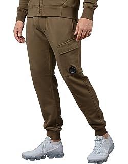 631952468 CP Company Diagonal Zip Fleece Sweatpants in Navy: Amazon.co.uk ...