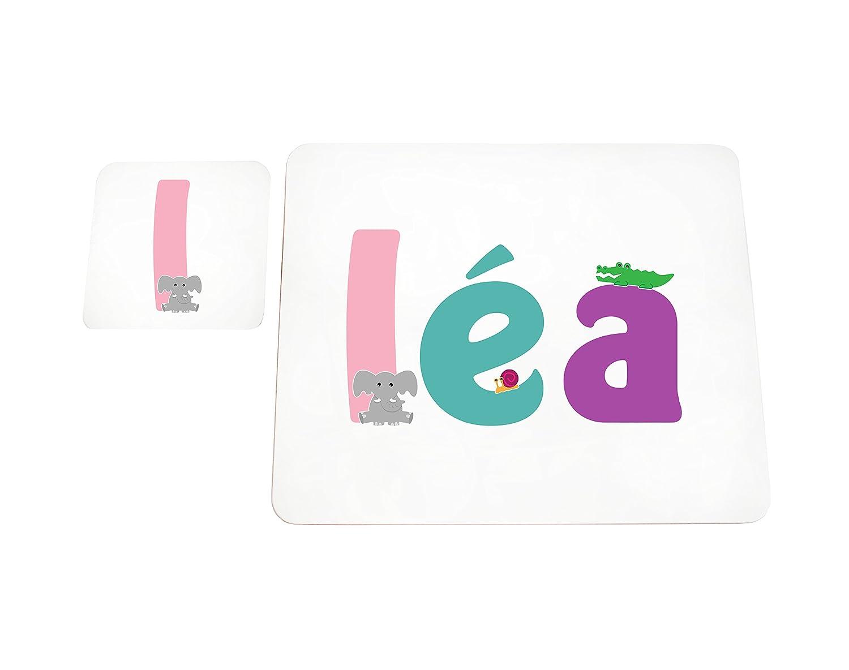 Little Helper Deckchen mit Coaster illustrativen Stil Bunt mit dem Namen M/ädchenname L/éa