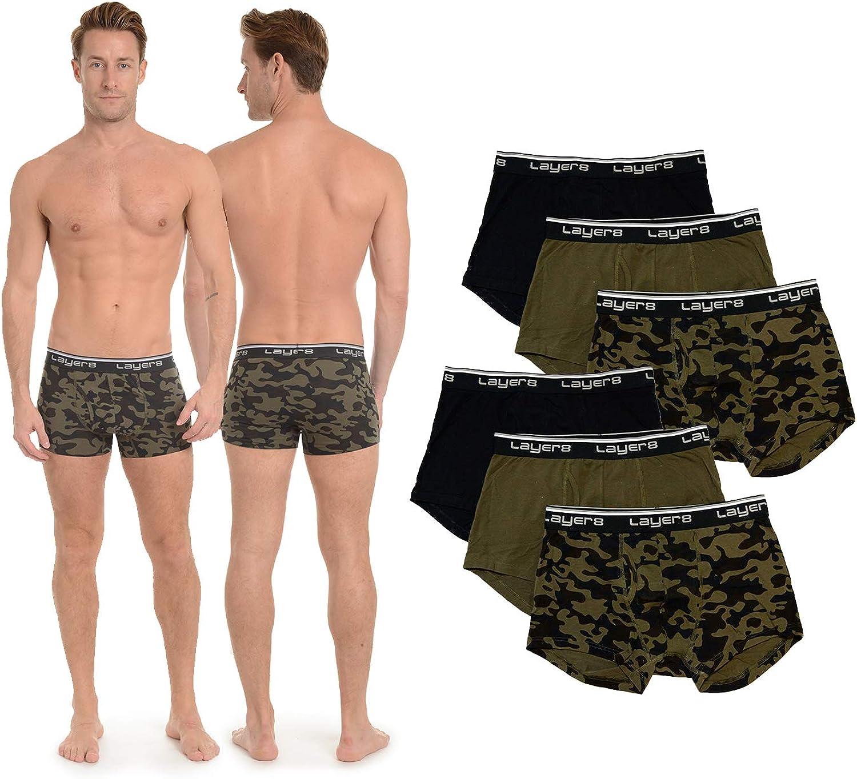 Layer 8 Men's 6-Pack Everyday Trunk Briefs Underwear