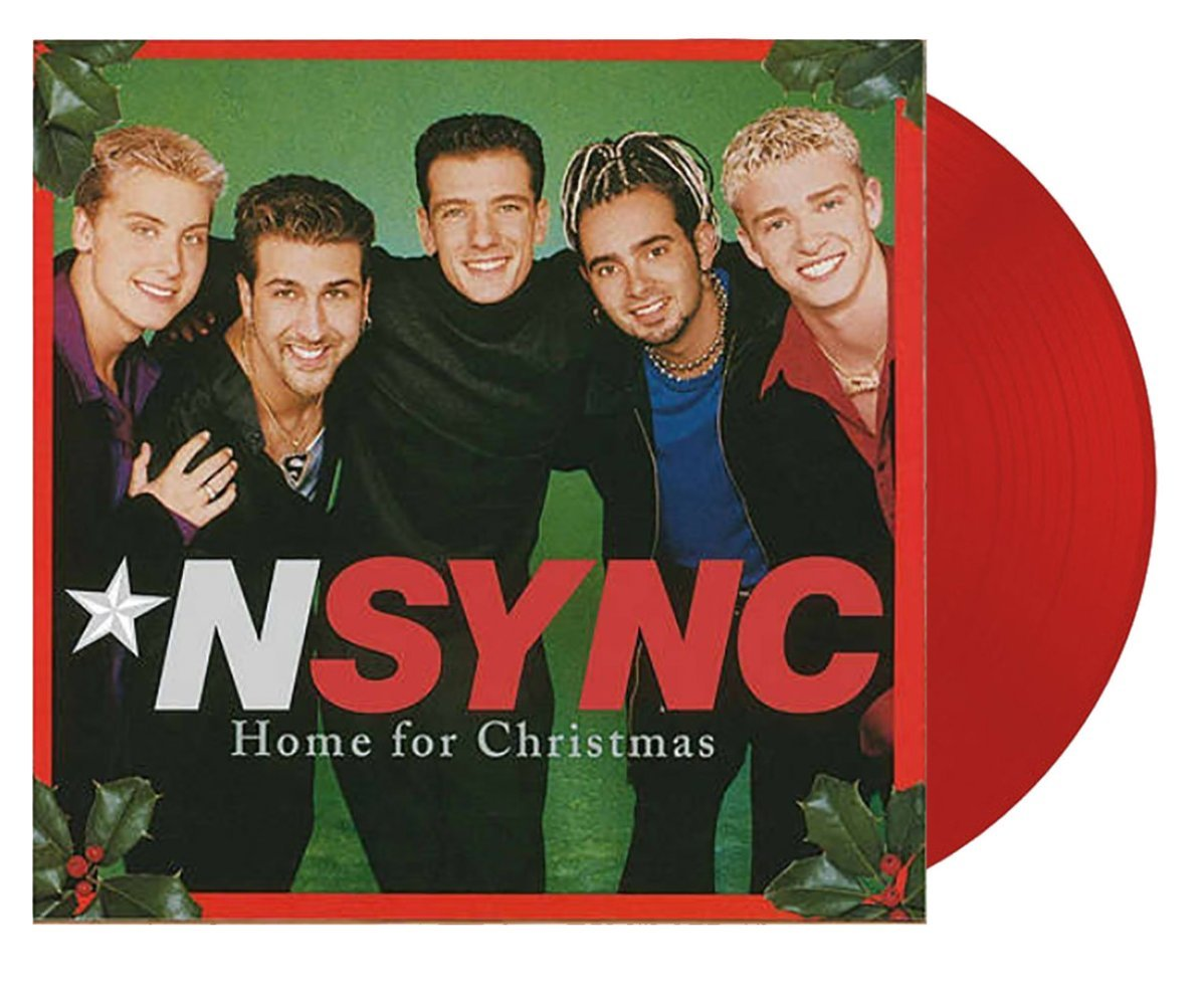 NSYNC - Home For Christmas Limited 2XLP Exclusive Cranberry Colored Vinyl