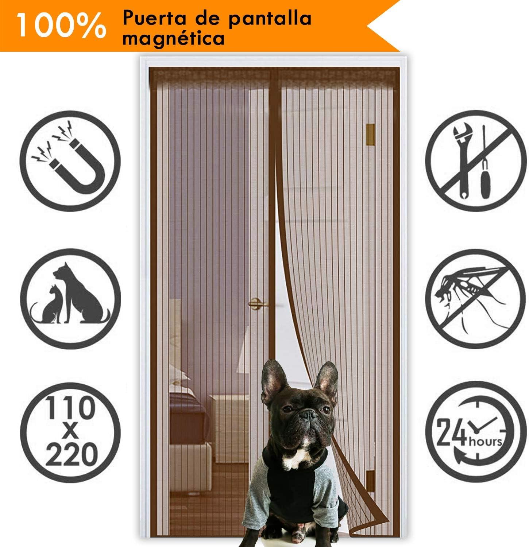 HAHEZDY Puerta mosquitera Protecci/ón contra Insectos La Cortina magn/ética es Ideal para la Puerta del balc/ón Puerta del s/ótano y la Puerta del Patio sin perforar,80x200cm 31x78inch