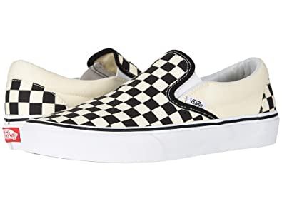 Vans Women's Slip-on(tm) Core Classics (10.5 M US Women / 9 M US Men,  Black/Off White Check)
