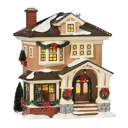 department 56 snow village christmas at grandmas lit house - Mini Christmas Village Houses