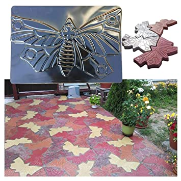 Moldes de hormigón, jardín Mariposa Molde pavimento, DIY jardín Paseo pavimento hormigón Molde Manual