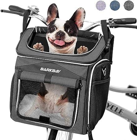 BARKBAY Dog Bike Basket Carrier - Most Convenient Dog Bike Carrier