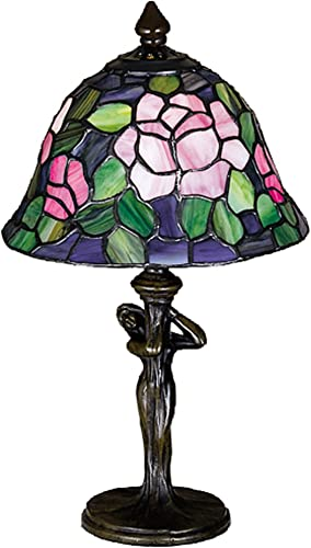 Chloe CH1701B-TF 1 Light Tiffany-Style Iris Torchiere Floor Lamp 17 Shade, Multi-Colored