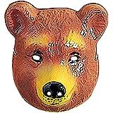Masque enfants ours masque d'ours brun ours masque masque ours masque d'animal déguisement accessoire carnaval