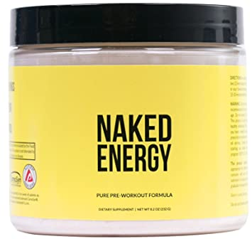 Naked Energy – Unflavored All Natural Pre Workout Supplement - Best Natural Pre Workout for Women