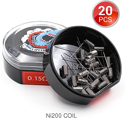 AWG 0.2ohm 20 PCS Filo Resistivo,Twisted Wire Prefabbricato Coil by Vapethink by Vapethink 24GA//0.2mm Flat