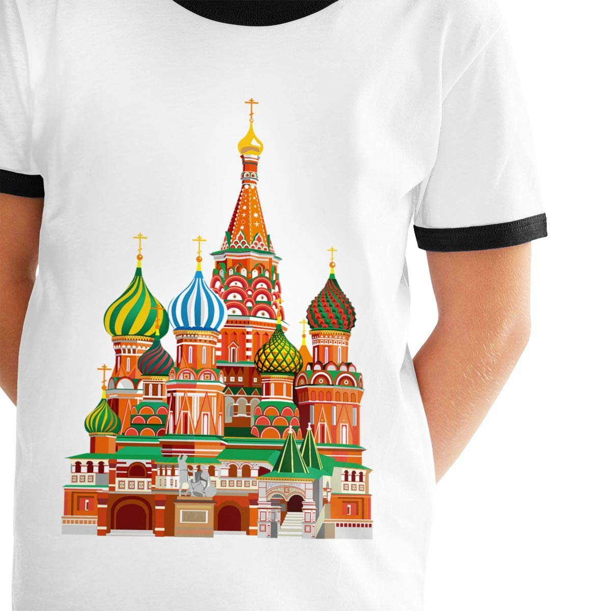 Kids Or Little Boys and Girls Manlee Color Russian Architecture Unisex Childrens Short Sleeve T-Shirt