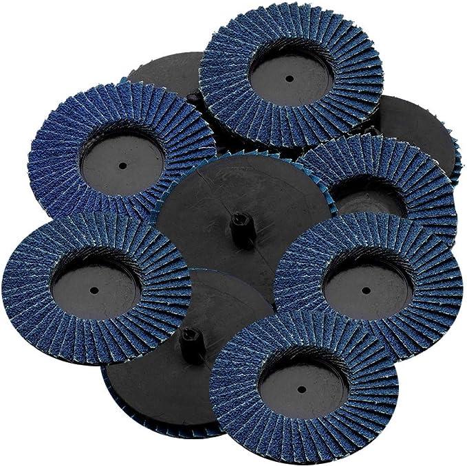 """100 Pack 3/"""" Mini Flap Discs 60 Grit Quick Change Sanding Roloc Style Type R"""
