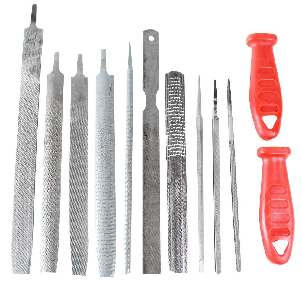 12 Piece Professional Rasp File Set with Many Shapes