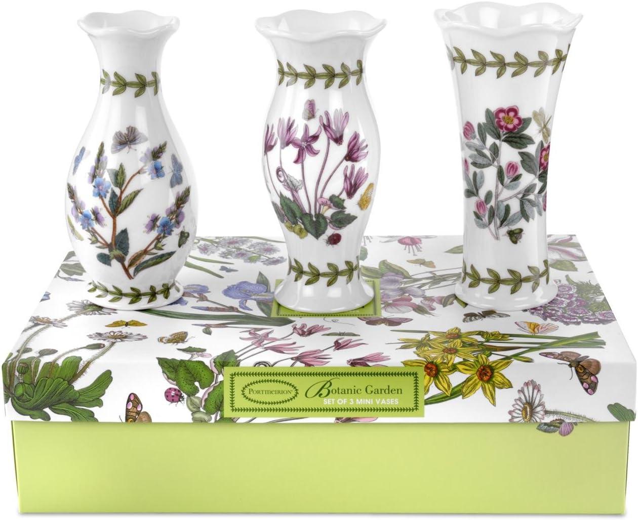 Portmeirion Botanic Garden Vases, Mini, Set of 3
