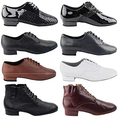 "50 Shades Mens 1"" Low Heel Dance Dress Shoes: Ballroom Salsa Swing Practice Casual | Oxfords"