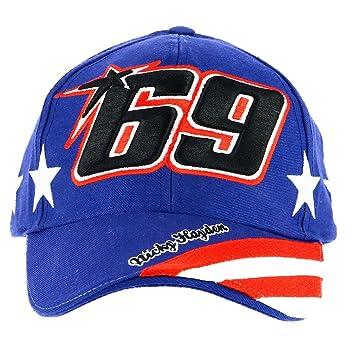 Nicky Hayden 69 Moto GP USA Flag Baseball Gorra Oficial 2017: Amazon.es: Deportes y aire libre