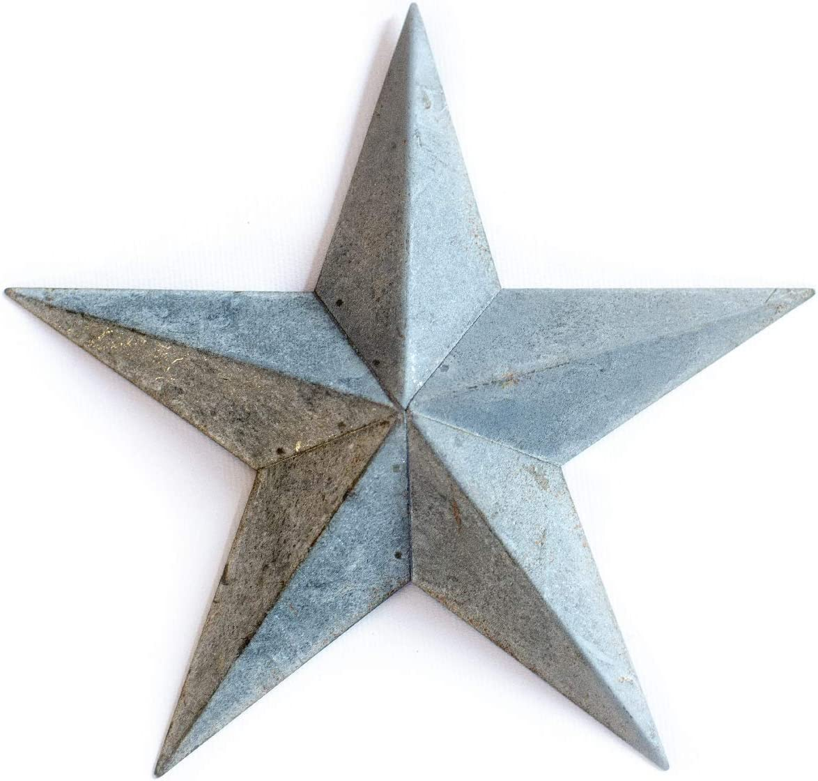 """Galvanized Metal TIN BARN Star 24 -Grey zinc Rustic Country Indoor Outdoor Christmas Home Decor. Interior Exterior Decorations Look Great Hanging on House Walls Fence Porch Patio. Quality Gift 24"""""""