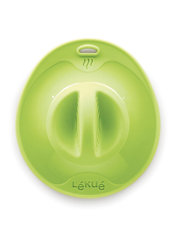 Lékué Tapa de cocina, Silicona, Verde, 25 cm