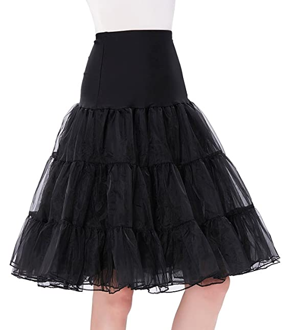 Ur-fashion Womens 50s Vintage Petticoat Crinoline Tutu Underskirts at Amazon Womens Clothing store: