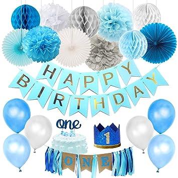 Kreatwow Primer cumpleaños Decoraciones para niños Primer ...