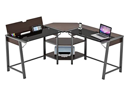 amazon com z line designs zl8070 01ldu cowell l computer desk rh amazon com z-line computer desk canada z line computer desk glass