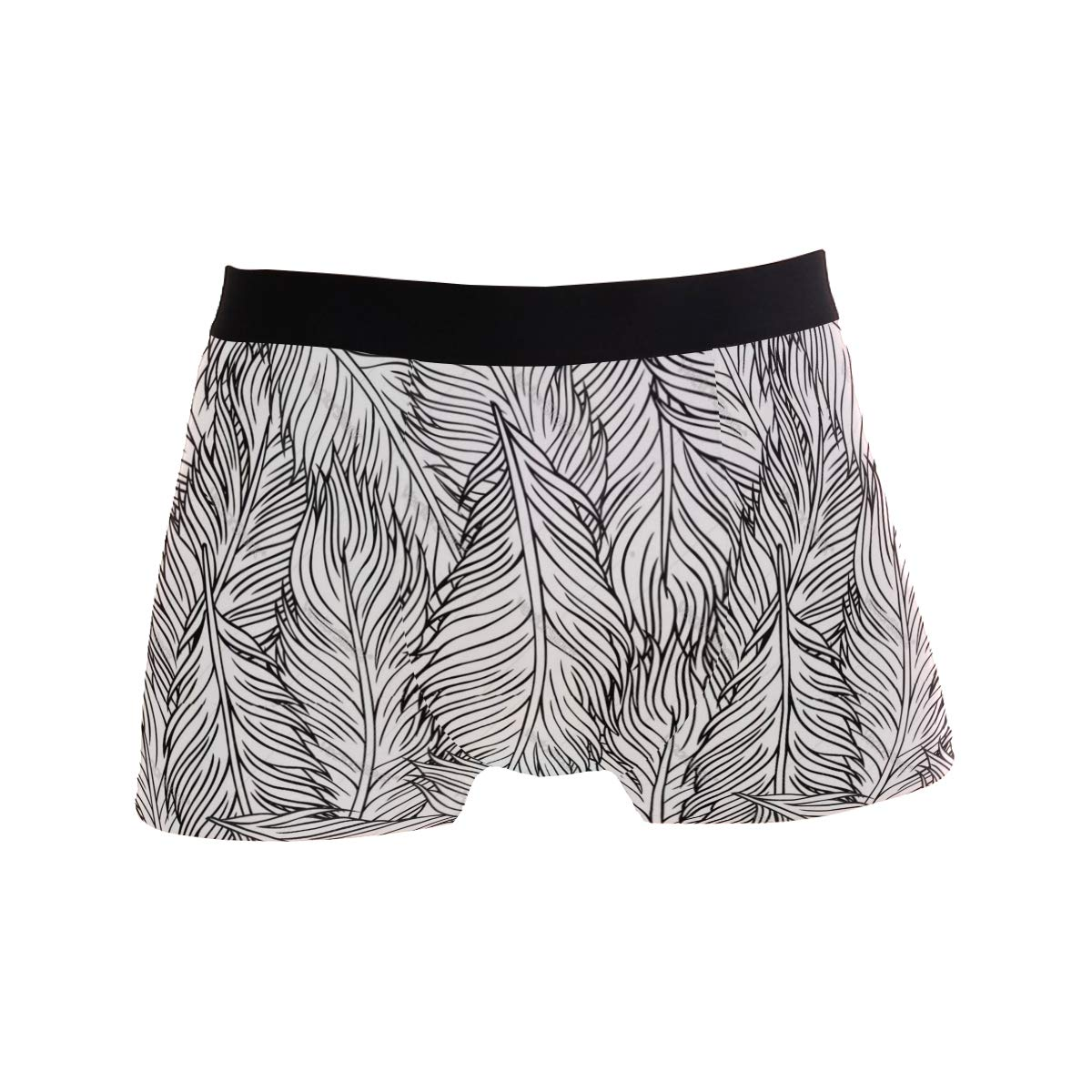 Overwhelmed with Feathers Mens Underwear Mens Bag Soft Cotton Underwear 2 Pack