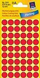 Avery Zweckform 3141 Markierungspunkte (270 Stück, Ø 12 mm) 5 Blatt rot