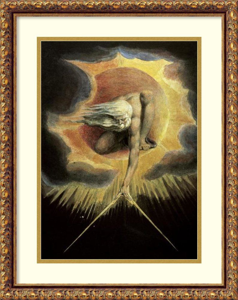 フレーム付きアートプリントの日の古代' ' by William Blake Size: 17 x 22 (Approx), Matted ブラック 3506031 Size: 17 x 22 (Approx), Matted Antique Bronze,mat:white B01FX0UKUG